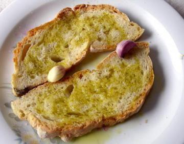 bruschette all'aglio