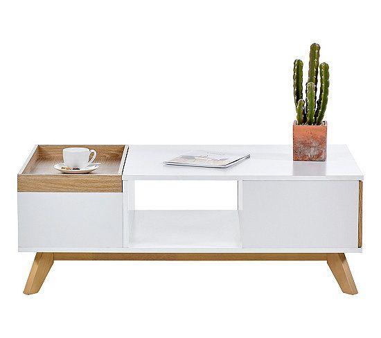 Table Basse Scandinave Cleo Blanc Imitation Chene Table Basse But Table Basse Scandinave Table Basse Table Basse Bois Scandinave