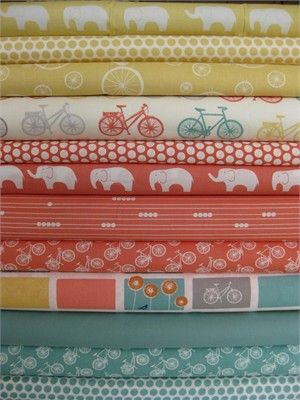 Fabricworm Custom Bundle, Rider in FAT QUARTERS 12 Total. CUTE colors (sorta girly)