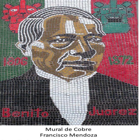 Mural de cobre de benito ju rez por francisco mendoza for Benito juarez mural