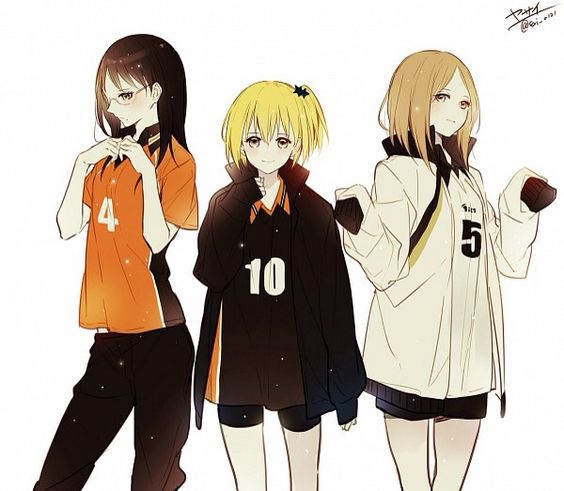 Haikyuu Girls In Boy's Uniform