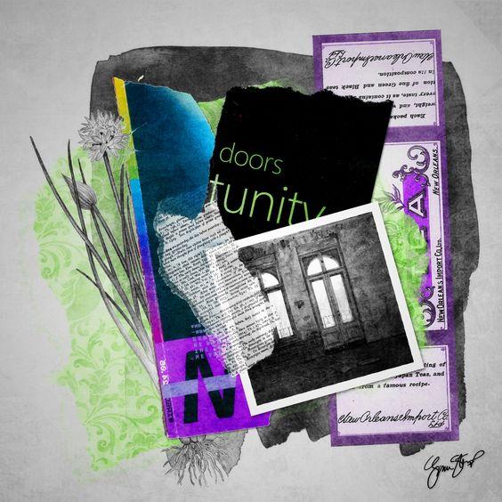 doorsofPerception by Gina Startup #collage #mixedmedia