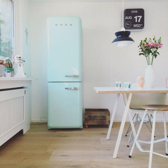 smeg #interior #einrichtung #küche #smeg #kühlschrank foto: luise