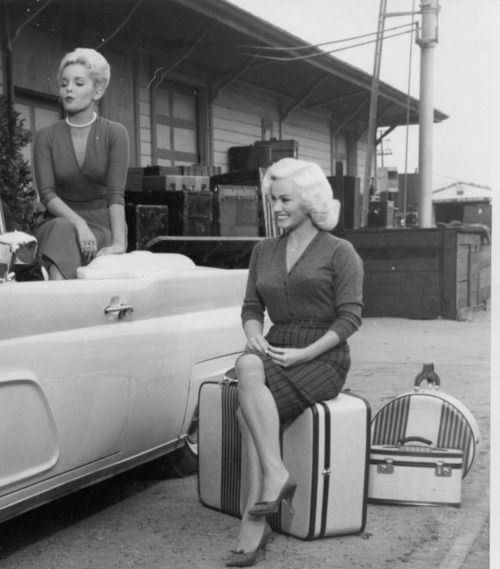 Tuesday Weld and Mamie Van Doren and a Lincoln Continental Convert.