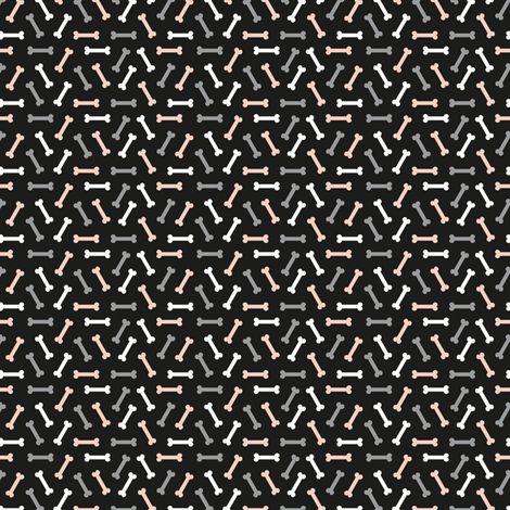Little bones for skulls in love fabric by petitspixels on Spoonflower - custom fabric