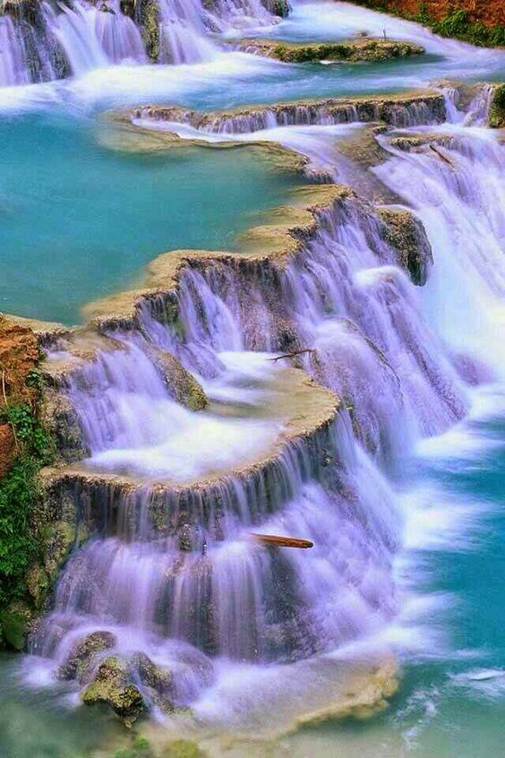 Stunning blue waterfall ~ Dreamy Nature:
