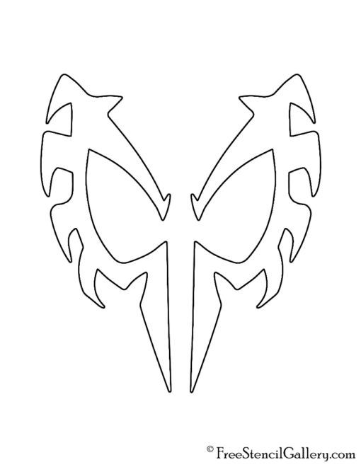 Spiderman 2099 Mask Stencil Free Stencil Gallery Free Stencils Spiderman Mask Spiderman