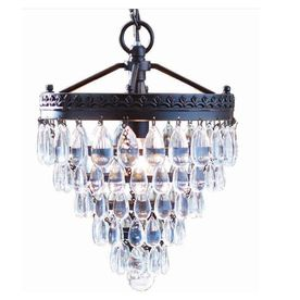 allen + roth Eberline 9.06-in W Oil-Rubbed Bronze Pendant Light with Crystal Shade/Master bathroom