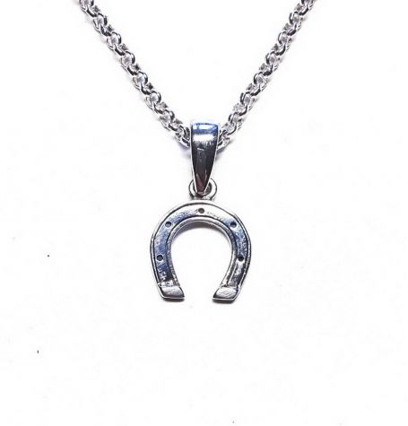 """Horseshoe symbolism: Luck, Protection, Power, Safe journeying,Winning, Success  An ancient symbol used to ward off the """"evil eye."""" Common legend is that the ends must be pointing up (keeping all the good luck in). There are theories that the magic of this symbol is in its shape - that of the horned moon.  Amorem jewelry"""
