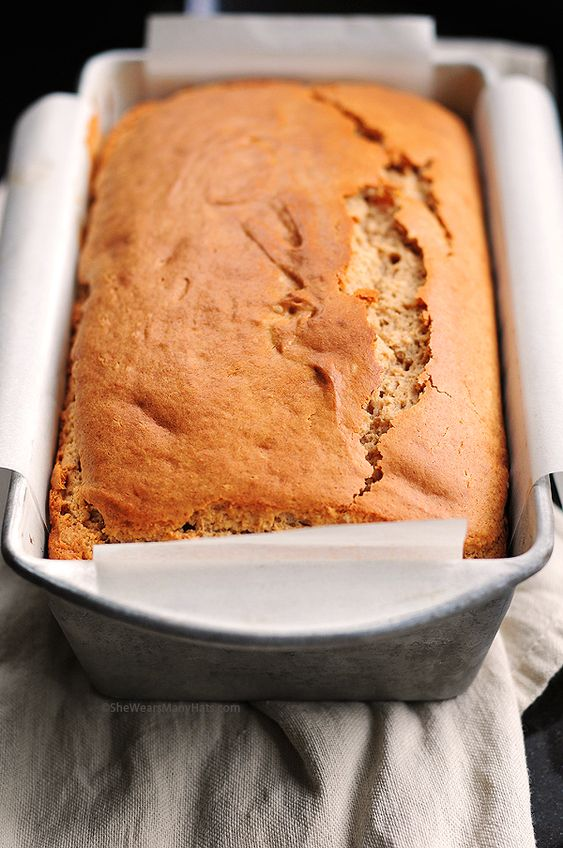 Peanut Butter Bread.. Super easy & yummy! I just cut a piece fresh out of the oven. I'll make this again