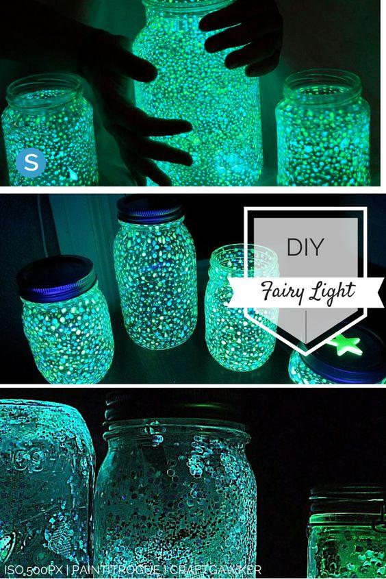 Easy tutorial to make your own Fairy Light out of a mason jar. https://simplemost.com/easy-diy-make-mason-jar-fairy-lights-with-your-children-2016-05?utm_campaign=social-account&utm_source=pinterest.com&utm_medium=organic&utm_content=pin-description: