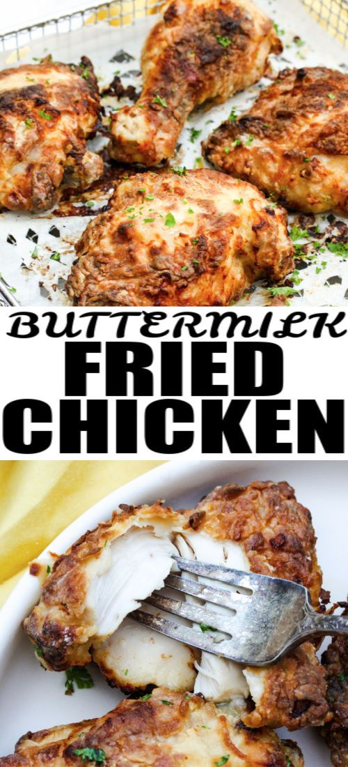 Air Fryer Buttermilk Fried Chicken Crispy Our Zesty Life Recipe In 2020 Easy Chicken Dinner Recipes Fried Chicken Yummy Chicken Recipes