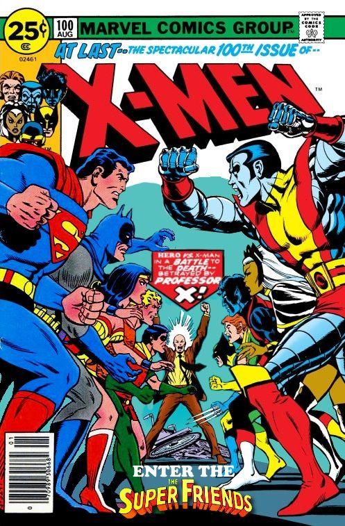 Uncanny X Men Vs The Super Friends By Gwhitmore Marvel Comics Wall Art Vintage Comics Vintage Comic Books