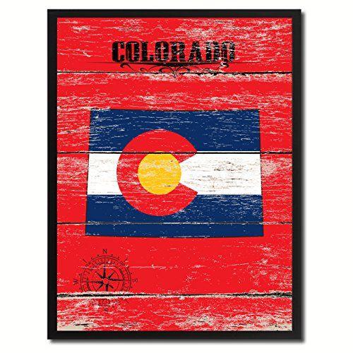Colorado Just Like Model Home Flag State Map Modern Style Colorful Art Design Custom Made Frame Home Office Decoration Souvenir Gift Ideas AllChalkboard http://www.amazon.com/dp/B00X8JSBKG/ref=cm_sw_r_pi_dp_R4ZIvb034TSN0