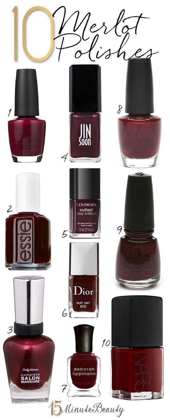 10 Great Merlot Nail Polishes for Fall