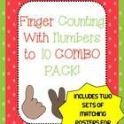 This is a combination pack of my finger counting packet and my popular finger number posters!  You get two sets of posters for 0-10 and counting ac...