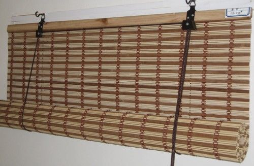 Bamboo Woven Roll Up Blinds Window Verticalblindsbedroom