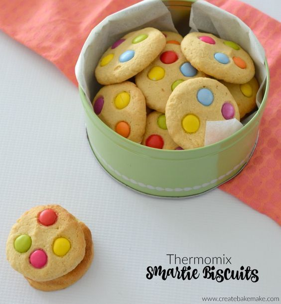 Thermomix Smartie Biscuits Thermomix Baking Biscuit Recipe Thermomix Desserts