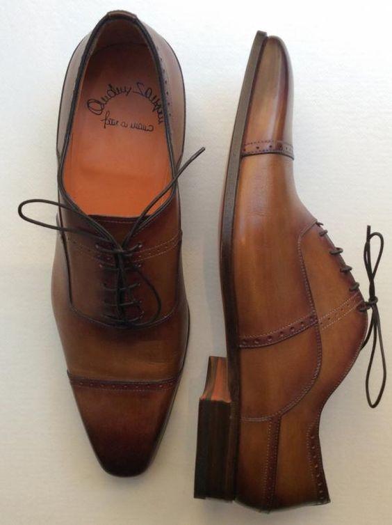 Richelieux by SANTONI 100% cuir semelle cuir Réf. SAN-BAS-H-82435