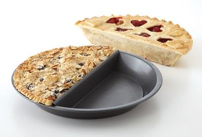 Split Decision Pie Pan! As a fan of the movie Waitress, and of saving time, I need this in my life!: Kitchen Gadgets, Split Decision, Half Pie