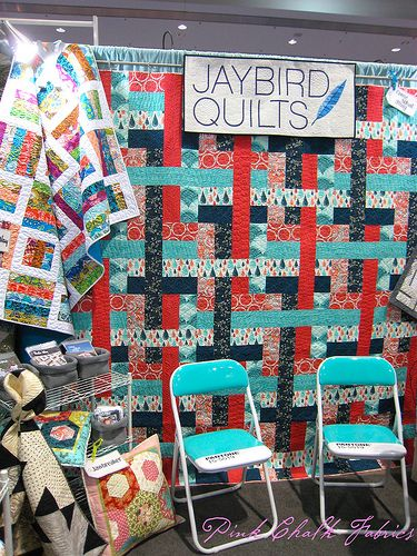 Spring 2012 Quilt Market - fabulous chairs spotted in Julie Herman's Jaybird Quilts booth.