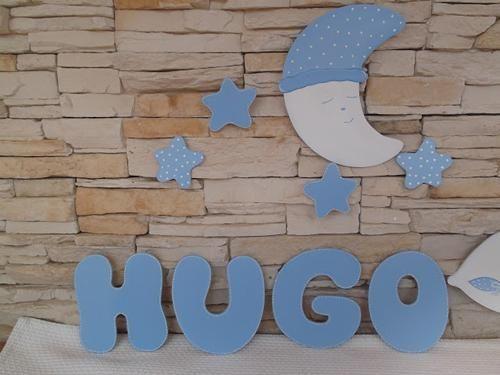 Letras de madera para decorar la habitaci n del beb de - Letras bebe decoracion ...