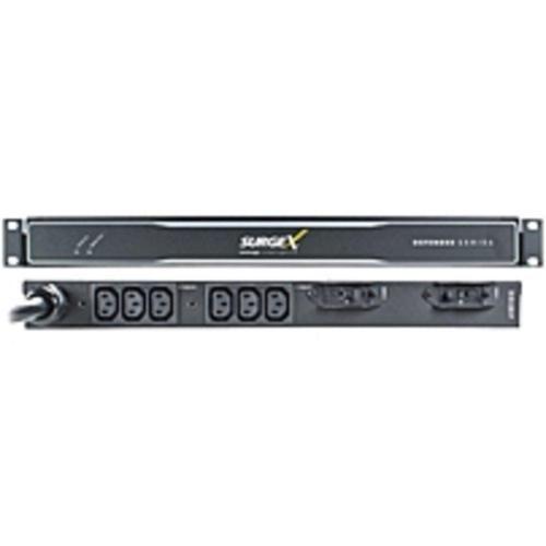 SurgeX Defender SX-DS-L530-FP 6-Outlets PDU - 6 x IEC 60320 C13 - 1U - Rack-mountable