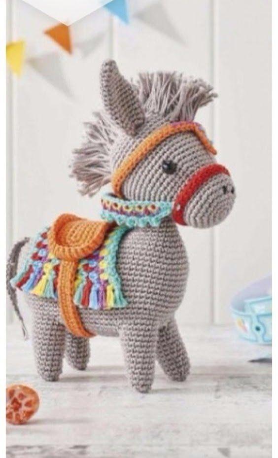 amigurumi cavalinho em crochê.   Cavalo de crochê, Amigurumi de ...   929x564