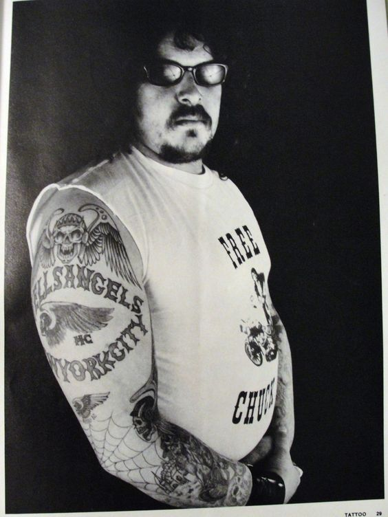 Hells angels york and new york city on pinterest for Hells angels tattoos pics