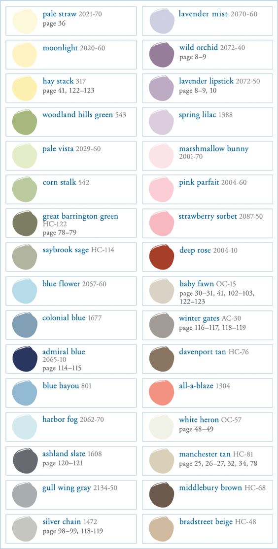 Benjamin Moore Paint Swatches & Color Wheel