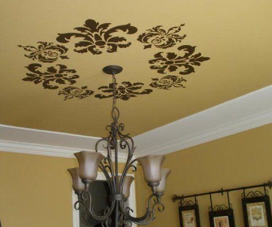 ceiling, light, vinyl lettering, uppercase living