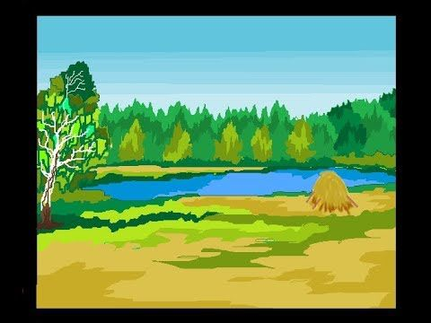How To Draw A Scenery In Ms Paint Simple Painting In Ms Paint