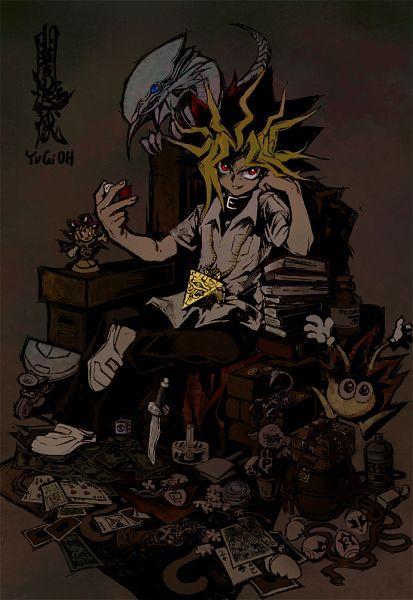 Tags: Anime, Yu-Gi-Oh!, Millennium Puzzle, Yami Yugi, Dagger, Monster, Toy