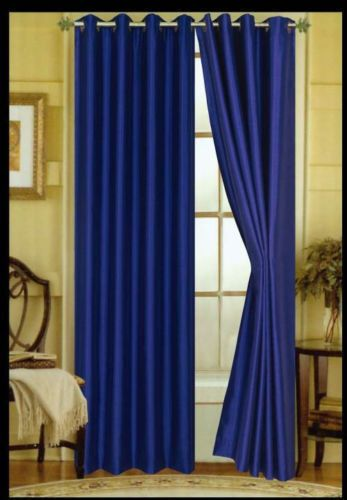 New Threshold Bold Gray Stripe Lined Window Curtain 54