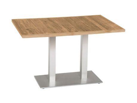 Stern Gartentisch/Bistrotisch Aluminium Edelstahloptik Old Teak 120x80 cm kaufen im borono Online Shop