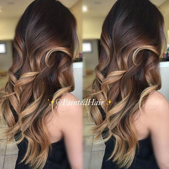 Caramel  Honey Blonde Balayage Highlights