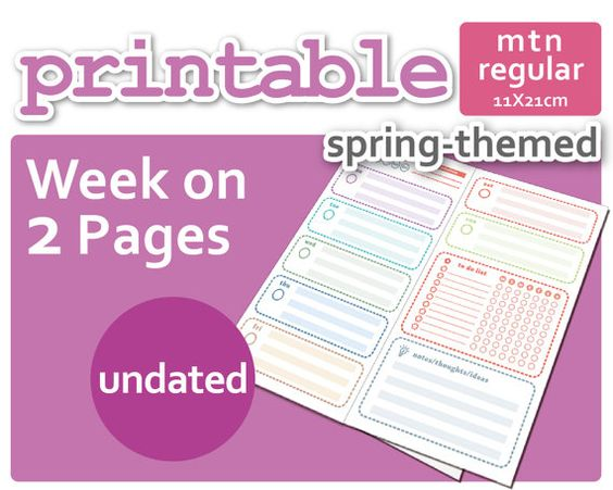 Hey, I found this really awesome Etsy listing at https://www.etsy.com/listing/231929275/spring-themed-week-on-2-pages-wo2p-for