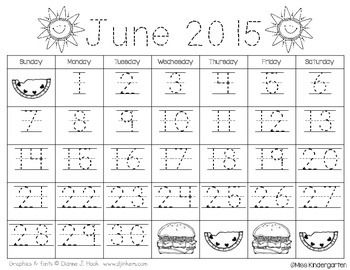 TRACEABLE & BLANK MONTHLY CALENDAR TEMPLATES {2015-2016 ...