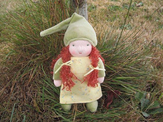 Irish Gnome Doll. ^_^  #Etsy #Gnome #Doll #Waldorf #Cute: Etsy Gnome, Waldorf Dolls, Irish, Gnomes Fairies
