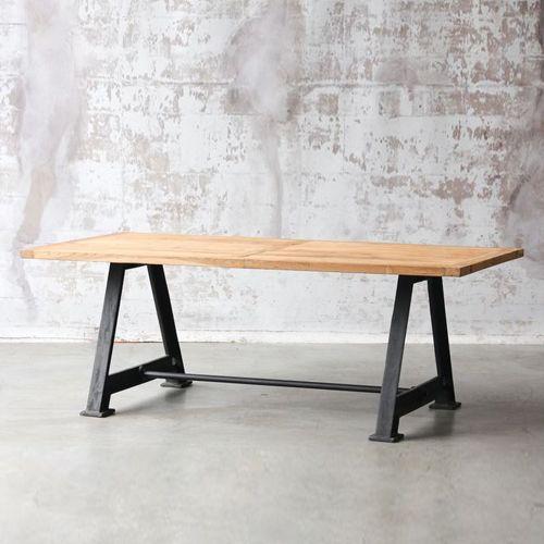 Soldes hiver 2016 table manger rectangulaire en teck et for Table style usine