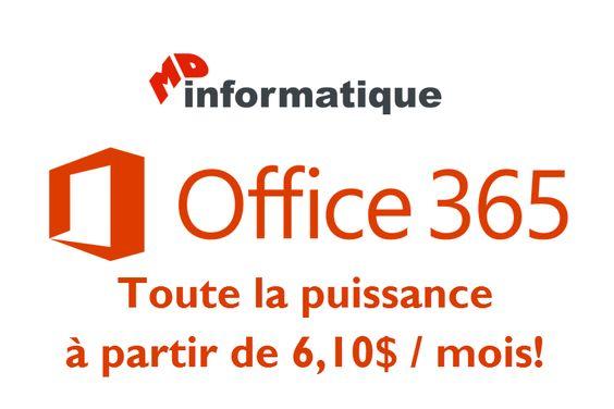 Office 365 - Avoir la puissance d'une grande entreprise à 6,10$ par mois