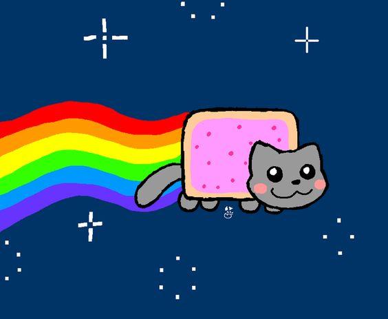 Nyan Cat Nyan Cat Neon Cat Cool Cats