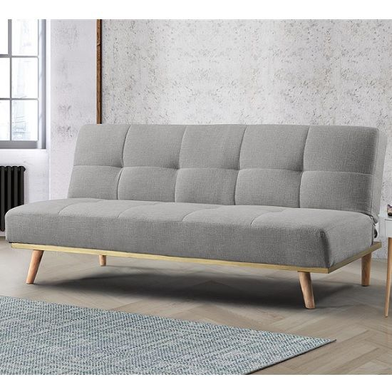 Soren Fabric Sofa Bed In Light Stone Grey With Wooden Legs Furniture In Fashion In 2020 Sofa Bed Uk Fabric Sofa Bed Grey Fabric Sofa