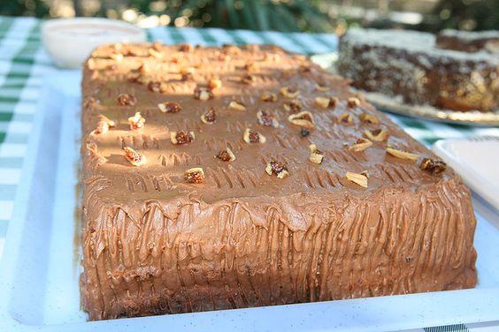 """Fig cake,"" by L. Z., via Flickr.  One of a series of photos only (inspiration to find recipes!) from ""Fig festival - 'Festa od smokava' - Spomen dom Reževići, Montenegro"""