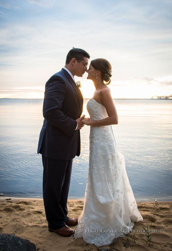 Wedding Photo taken at The Chesapeake Bay Beach Club by High Contrast Photography