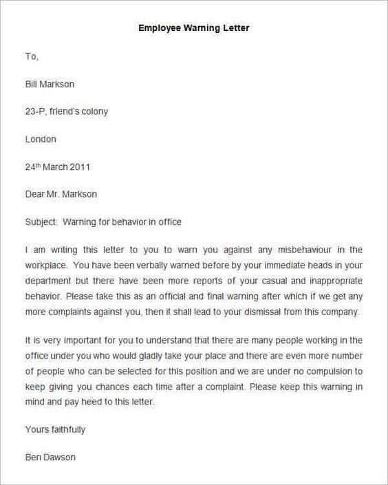 Warning Letter  Yon