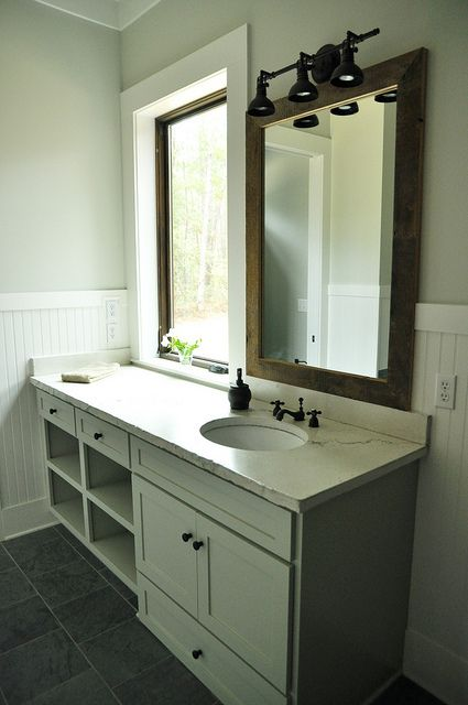 Concrete Countertops And Barnwood Mirror