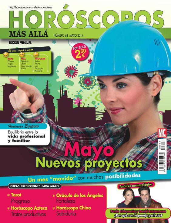 Revista #HORÓSCOPOS MÁS ALLÁ 63. #Mayo, nuevos proyectos. Bien: #cáncer, #virgo, #sagitario. Encuentra el equilibrio entre la vida profesional y la familiar. #tarot, sabiduría, progreso...