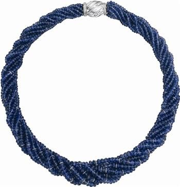 A Sapphire and Diamond Multi-Strand Necklace