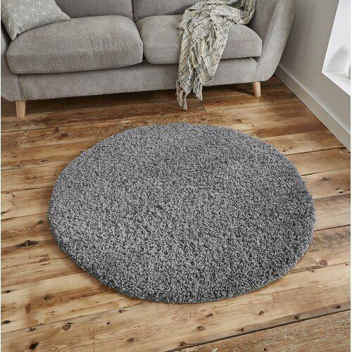 Zipcode Design Carpet Devon In Gray Wayfair De Devon Rug In Gray Zipcode Design Rug Size Round 133 Cm Diameter In 2020 Grey Circle Rug Grey Round Rug Circle Rug